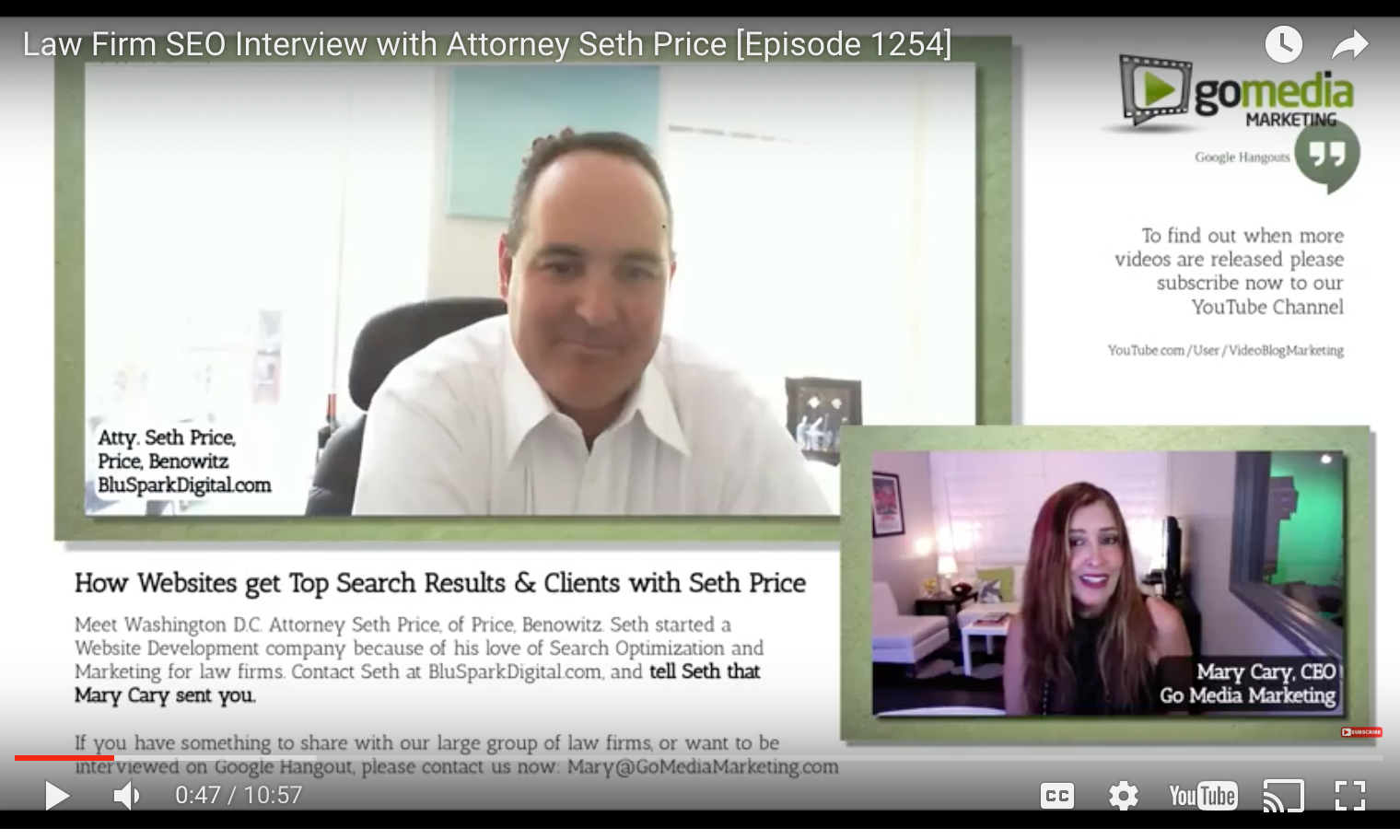 Law Firm SEO: Amazing Interview with Seth Price (Get a Better SEO Now)