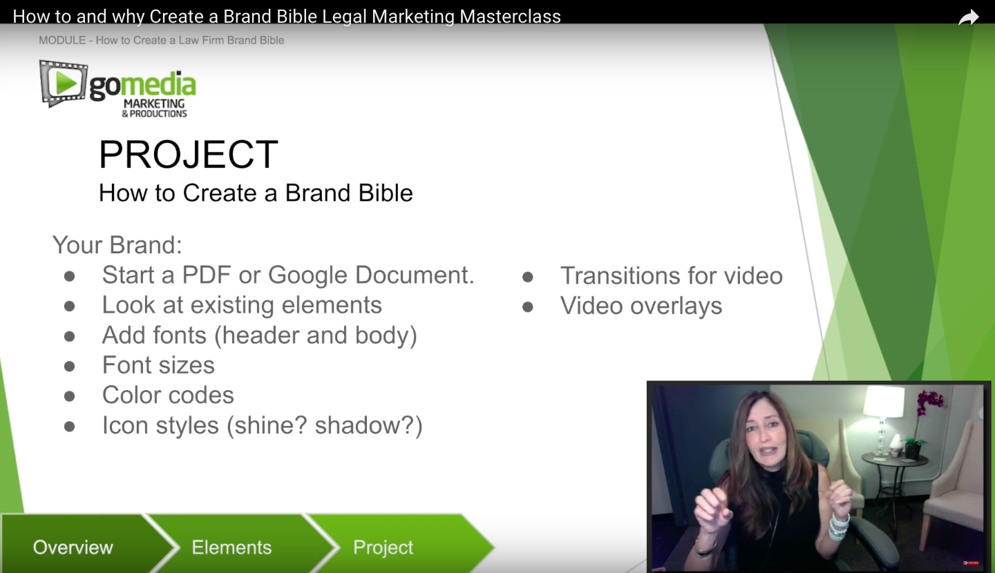 """""""How to and why Create a Brand Bible"""" – Legal Marketing Masterclass"""
