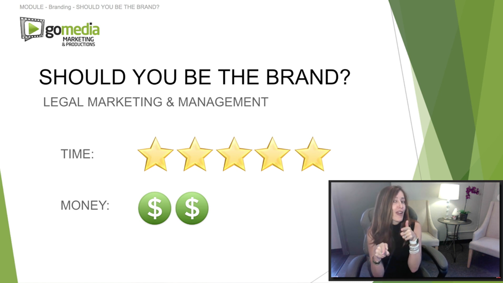"""""""Should you be your law firm brand?"""" Legal Marketing Masterclass"""